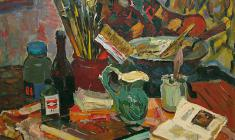 Piotr Alberti. Still-life. Oil on canvas, 85х87. 1977