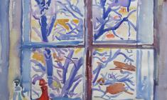 Eugenia Antipova. Window. Watecolor on paper,  56,5х50. 1968