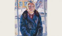 Eugenia Antipova. A Girl from Pereslavl. Oil on canvas, 82х61. 1964