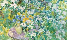 Eugenia Antipova. Apple Tree in Bloom. Oil on canvas, 60х78. 1997