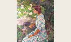 Eugenia Antipova. A Girl in the Garden. Oil on canvas, 120х100. 1964