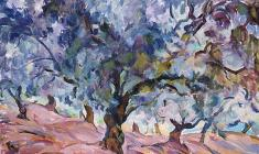 Eugenia Antipova. Olive Grove in the Crimea. Oil on canvas, 64х93. 1966