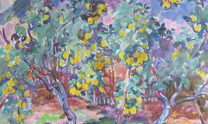 Eugenia Antipova. Quince. Oil on canvas, 70,5х82. 1968