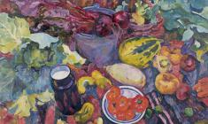 Eugenia Antipova. Still-life. Oil on canvas, 100х120. 1964