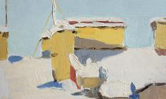 Taisia Afonina. In January. Oil on cardboard, 12х15. 1956