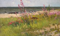 Vsevolod Bazhenov. On the shore of the Gulf of Finland. Oil on canvas, 42х62. 1966