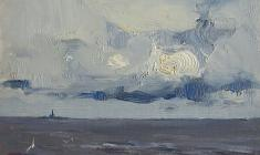 Vsevolod Bazhenov. Baltic Sea. Oil on cardboard,  13х18. 1962