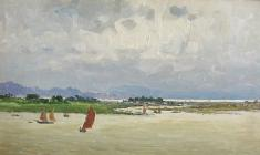 Vsevolod Bazhenov. Near the Coast of Vietnam. Oil on cardboard, 15х25. 1962