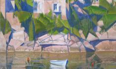 White Boat. Oil on canvas. 80х60. 2015