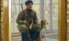 Yuri Belov (b.1929).  Model as a Hunter. Oil on canvas, 65х55. 1952,  Price on request.
