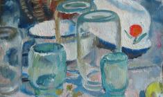 Olga Bogaevskaya. Pots in the Sun. Oil on canvas, 50х43. 1981
