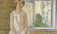 Veniamin Borisov. At the Window. Oil on canvas,66,5х80,5. 1992