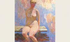 Veniamin Borisov. Bather. Oil on canvas, 59х46. 1993