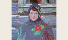 Veniamin Borisov.  Country Girl. Oil on canvas, 80х70.  1986