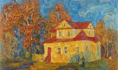 Veniamin Borisov. Country House. Oil on cardboard, 50х70. 1992