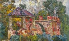 Veniamin Borisov. Руины в Павловске. Oil on cardboard, 48,5х68. 1962