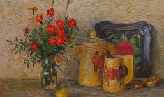 Veniamin Borisov. Still-life. Oil on canvas, 38х55. 1989