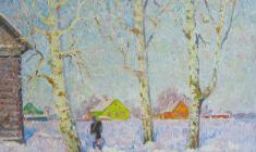 Veniamin Borisov. Winter. Oil on canvas, 60,5х70. 1980