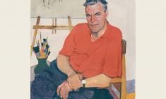 Peter Buchkin. Portrait of Artist Peter Vasiliev. Tempera on canvas, 100х80. 1961
