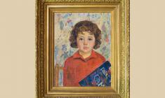 Valery Vatenin (1933 - 1977). Portrait of Daughter. 1965. Oil on canvas on board, 55х40.1965. Price on request