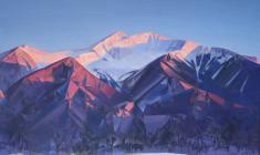 Evening. Sayan. Oil on canvas. 85х105. 2015