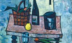 Rostislav Vovkushevsky. Still-life with Lemon. Oil on canvas, 79,5х89,5. 1980