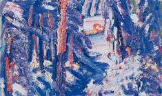 Василий Голубев. Winter Scetch. Oil on cardboard, 62х50. 1966