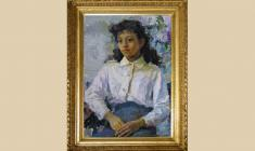 atyana Gorb (1935 - 2013). Schoolgirl. Oil on canvas, 70х50. 1986. Price on request