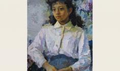Tatyana Gorb. Schoolgirl. Oil on canvas, 70х50. 1986