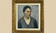 Vladimir Gorb (1903 - 1988). Young Woman in a Black Beret. Oil on canvas, 50х43. 1934. Price on request