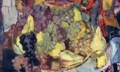 Sergei Zakharov. Still-life with Fruits. Watecolor on paper, 58х65. 1986