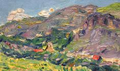 Ruben Zakharian. Colours of Armenia. Oil on cardboard, 11,3х17,7. 1952