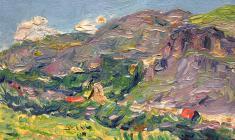 Ruben Zakharian. Colours of Armenia. Oil on cardboard, 11,3х17,7. 1952