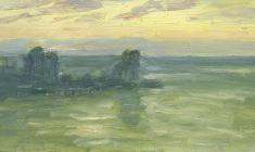Ruben Zakharian. Morning Colors. Oil on cardboard, 12,8х22,8. 1956
