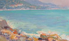 Ruben Zakharian. A Seashore in Khosta. Oil on cardboard, 23,8х33,2. 1961