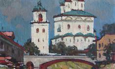 Mikhail Kaneyev. Russian Antiquity. Oil on canvas, 41х41. 1974