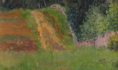 Mikhail Kozell. Road to the Hill. Oil on canvas, 39х30. 1062