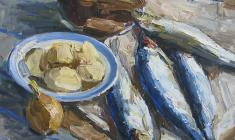 Engels Kozlov. Blue Herring. Oil on canvas, 46х57. 1965
