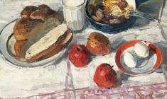 Engels Kozlov. Breakfast. Oil on canvas, 48х60. 1965