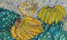 Maya Kopytseva. Still-life with Bananas. Oil on canvas, 70х80. 1975