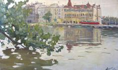 Alexander Korovyakov. On the Islands. Oil on canvas, 48х81. 1962