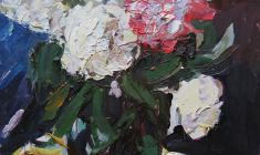 Alexander Korovyakov. Bouquet. Oil on cardboard, 50х40. 1979