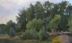 Alexander Korovyakov. Evening. Oil on canvas, 87х62. 1960