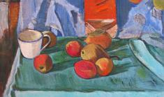 Gevork Kotyantz. Pears. Oil on canvas, 47х53. 1966