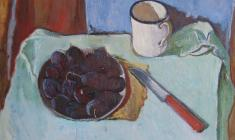 Gevork Kotyantz. Plums. Oil on canvas, 45х54. 1968