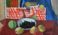 Gevork Kotyantz. Berries. Oil on canvas, 49х51,3. 1964