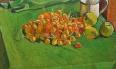 Gevork Kotyantz. Cherry and Apples. Oil on canvas, 47,5х50,5. 1964