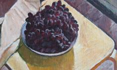 Gevork Kotyantz. Grapes. Still-life. Oil on canvas, 38,5х48. 1964