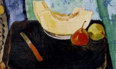 Gevork Kotyantz. Melon and Paers. Oil on canvas, 40,5х47. 1960