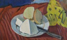 Gevork Kotyantz. Still-life. Oil on canvas, 48х48,5. 1968